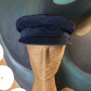 Accessories - NWT Navy Suede Greek Fisherman's Cap